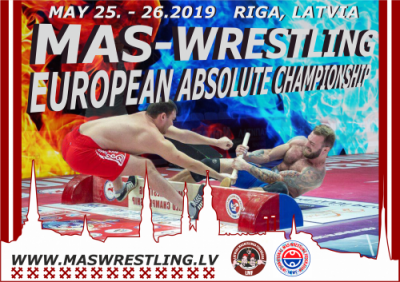 Mas-Wrestling European Championship in absolute weight category - 2019