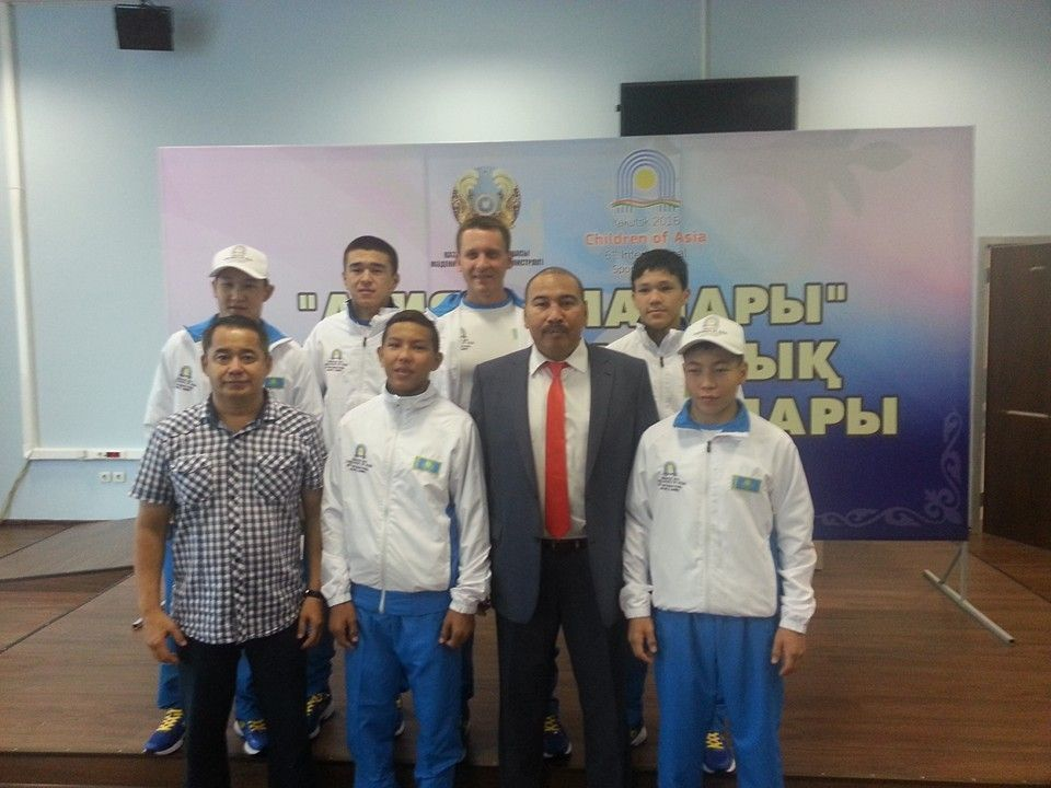 "First guests of the International sports Games ""Children of Asia"""