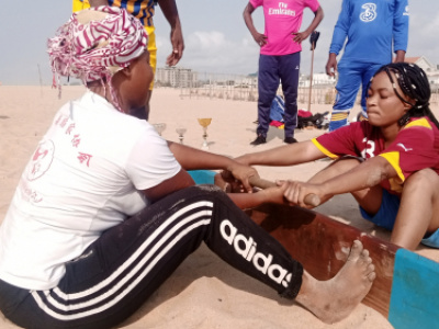Mas wrestling training course in Cotonou, Benin